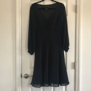 Jones New York black dress 6 silk